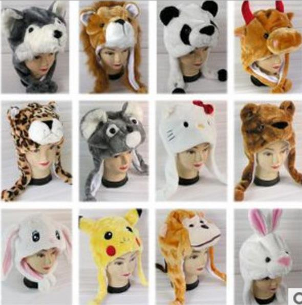 Adult animal plush hat pattern recommend