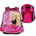 Barbie niños escuela ortopédica/libros/estudiante/bolsa mochila/mochila con trasera dura para niñas de clase/grado 1-3