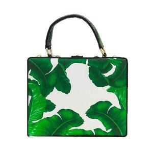 Image 2 - Двойной цветок зеленый лист банана маленькие насекомые женская сумка через плечо сумки через плечо Женская Повседневная вместительная сумка клатч
