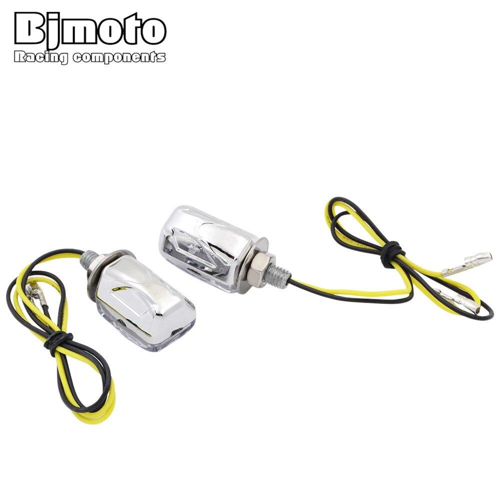 BJMOTO 2 Stück 12V LED Auto Motorrad Anzahl License Plate Screw Bolt Licht Lampe Universal Schraube Bolt Licht