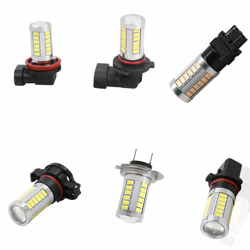 1PC Car led H7 H8 H11 9005 HB3 9006 HB4 H16 PSX24W P13W 33SMD LED Auto Fog Lamp Car Bulb 6000K Driving  Lamp 12V white yellow