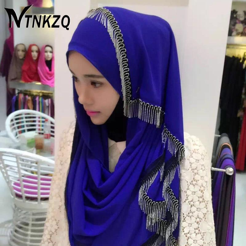 [NTNKZQ]2017 New Women Multicolor Crystal Printed Chiffon Muslim Hijab