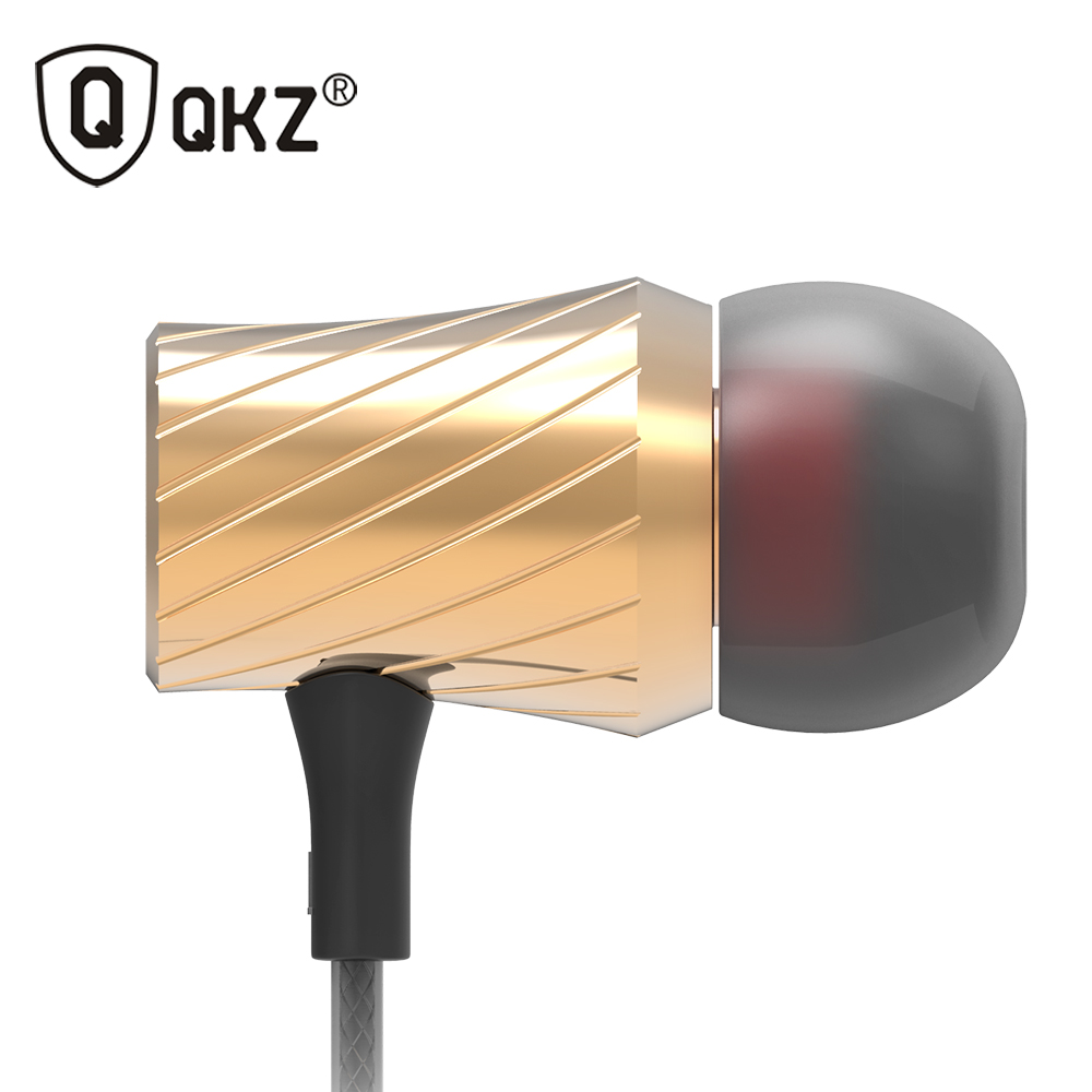 QKZ X9 Earphone Super Bass Go Pro Clear Voice Metal-Ear Earphones Mobile Computer MP3 Universal 3.5MM Headset fone de ouvido universal 3 5mm in ear bass earphone mobile phone clear voice earphones with microphone for samsung iphone htc mp3 4 pc