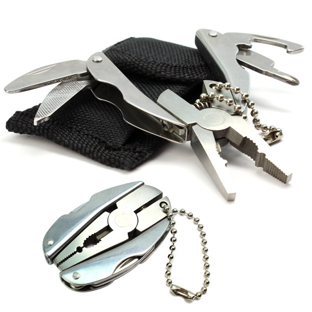 Portable Multi tool pliers Mini multi purpose folding pliers Keychain Screwdriver Scarab Tortoise pliers outdoor products Travel in Outdoor Tools from Sports Entertainment