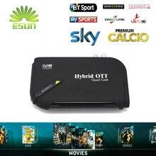 Receptor de Satélite Android Con 1 Años Super Europa IPTV IPTV con 1300 Live channelsSupport BissKey Cccam Newcam Youtube DVBS2