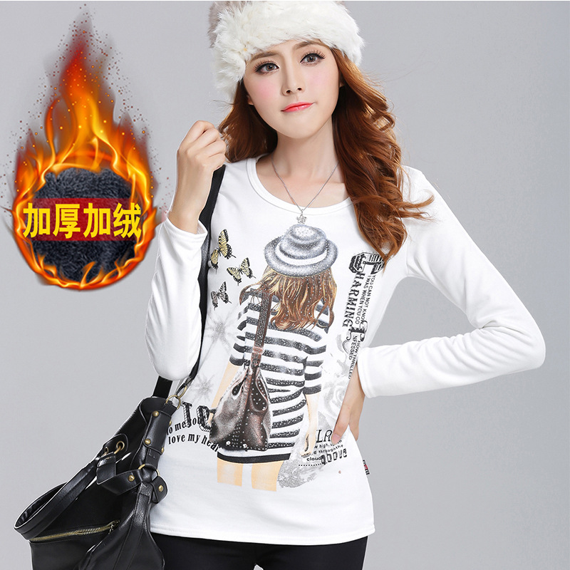 Tee Shirt Femme Winter Ladies Tops Cotton T Shirt Women Tshirt Clothes 2016 Fashion Long Sleeve T-Shirt Roupas Camisas Femininas