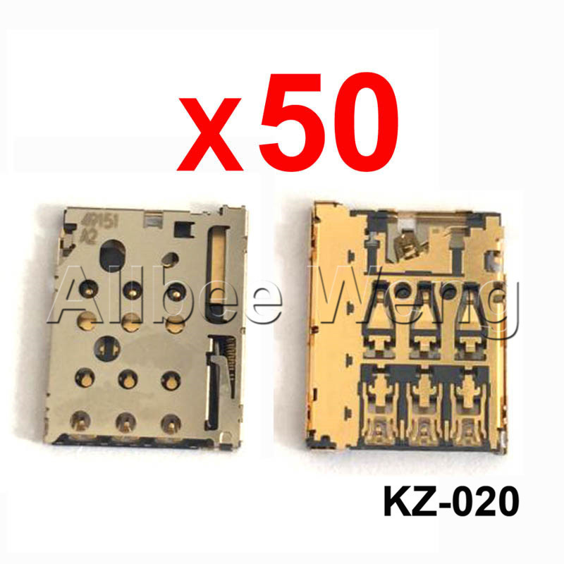 5/10/20/50/100PCS For Motorola Photon Q 4G LTE XT897 Nano SIM Card Slot Tray Holder Socket Reader Module Repair Part