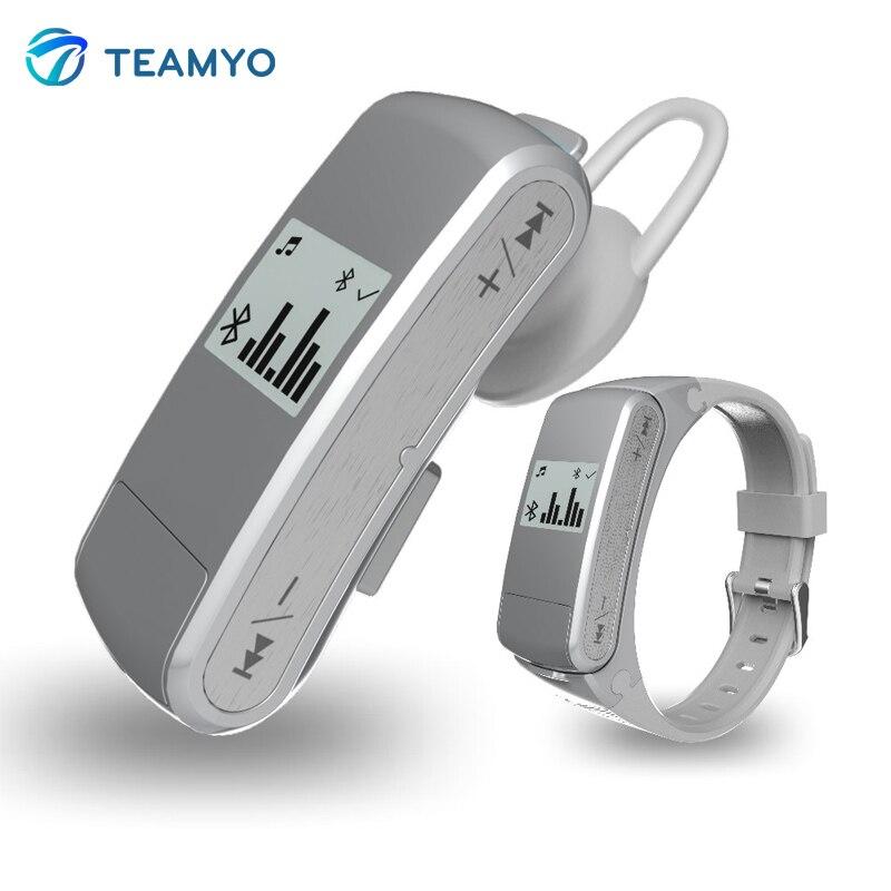 Teamyo F50 Smart Band Bluetooth Talk Band Music Sport Smart Bracelet Wristband Pedometer Fitness Tracker Heart