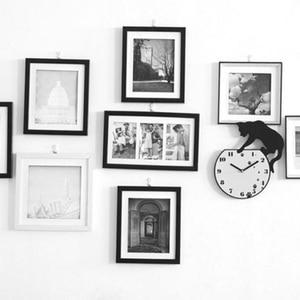 Image 2 - Gorące naklejki ścienne naklejki ścienne śliczne ślady zegar akrylowy nowoczesne dekoracje do domu dekoracje w domu