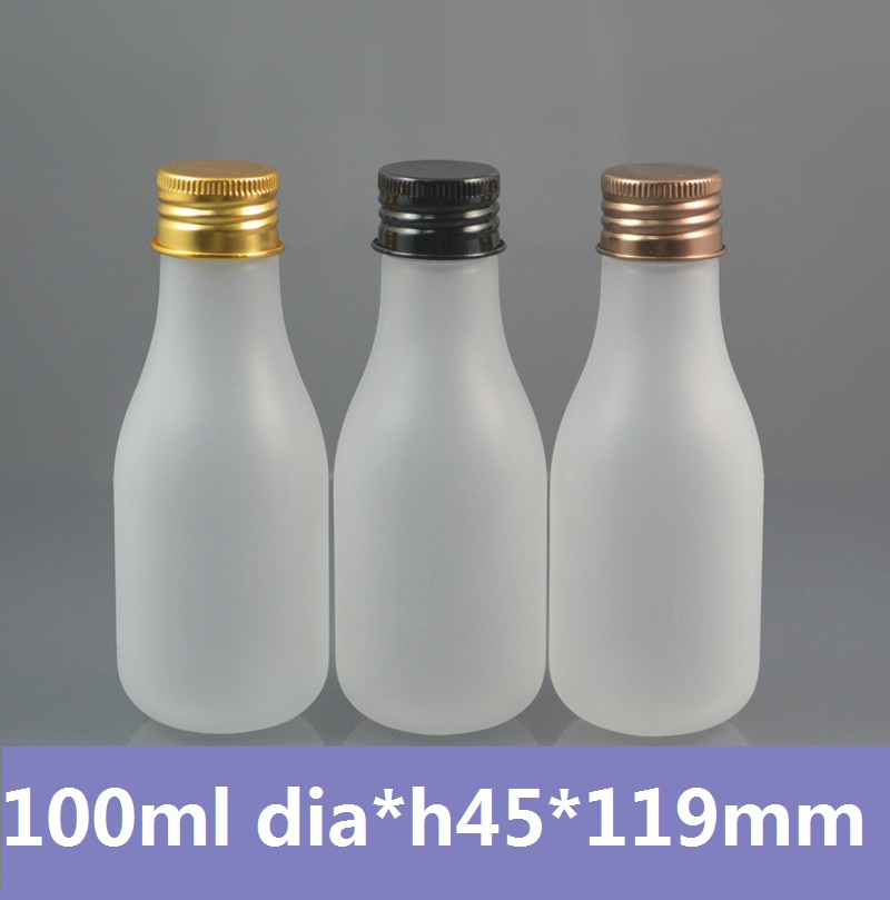 50pcs/lot 4oz 100ml Frosted herbal oils PET Bottle with