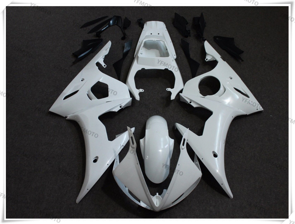 Motorcycle ABS Unpainted White Fairing Body Work Cowling For YAMAHA YZF R6 R6 2003-2004 R6S 2006-2009 +4 Gift