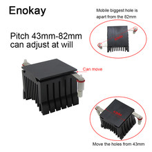 Enokay 1 Pc 40X10 Mm Koelventilator Heatsink Diy Northbridge Koeler South North Bridge Radiator Voor Pc Computer(China)