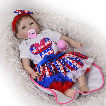 Reborn baby toy dolls 55cm soft silicone vinyl reborn baby girl dolls reborn toys bonecas play house lifelike toddlers for sale