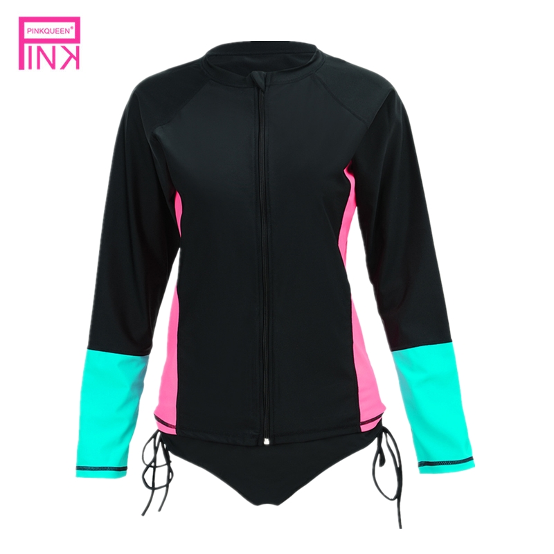 Surfing One Piece Swimming suit Conservative Long Sleeve Swimsuit Sport Style Surfing Swimsuit Beach Swimwear Bathing Suit