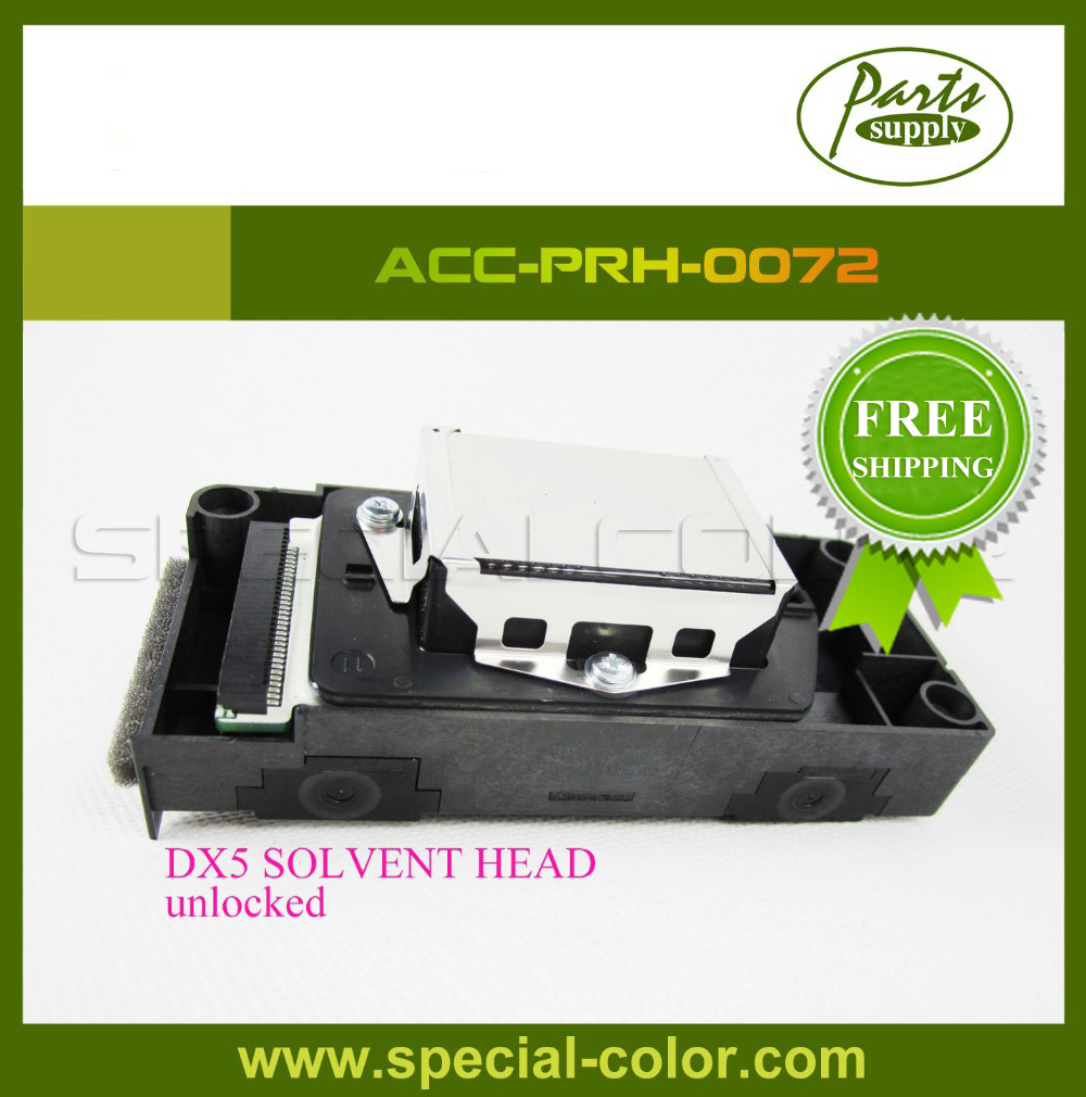 Free Shipping! DX5 Solvent Printhead F186000 Unlocked Print Head DX5 for Galaxy Witcolor Mimaki,etc dx5 unlocked 100