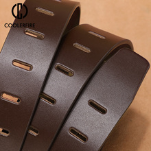 cowhide genuine leather belts for men brand male pin buckle jeans cowboy Mens Belt Luxury Designer High Quality Leather belt men