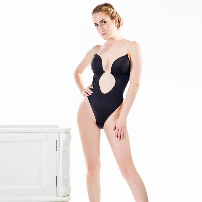 Sexy Deep Plunge Shapewear Thong Deep U Body Shaper For Backless ...