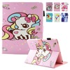 For IPad 2 Case 2017 Cartoon Unicorn Flio Folio PU Leather Magnetic Closure Stand Cover Cases