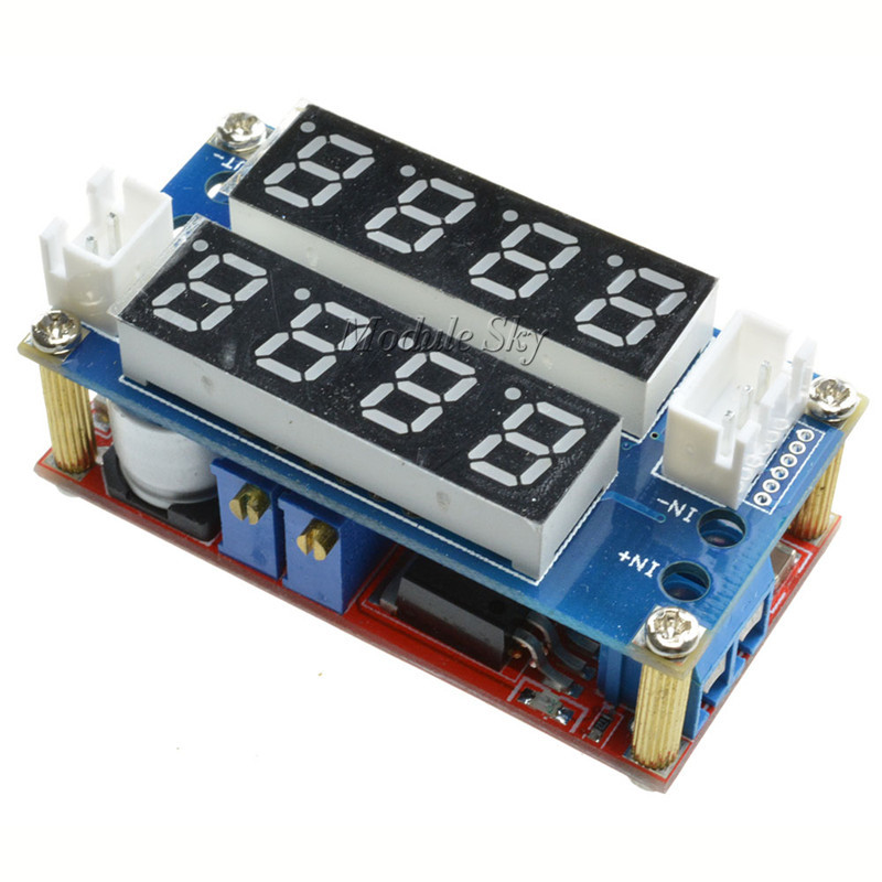 F85 Free Shipping 5A Adjustable Power CC/CV Step-down Charge Module LED Driver Voltmeter Ammeter