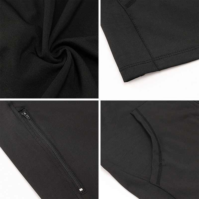 Lammei 男性ボディービルフィットネスフード付きジャケットメンズジッパーパッチワークポケット圧縮クイック生き抜く