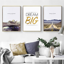 HAOCHU Nordic Modern Landscape Canvas Painting Lighthouse Road Character Wall Art Poster Print Personality Picture Home Decor