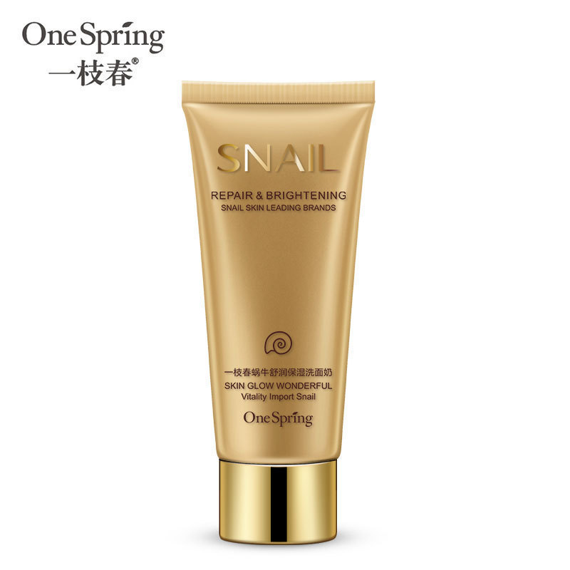 OneSpring Snail Facial Cleanser 100g Moisturizing Whitening Oil Control Acne Treatments Shrink Pores Skin Care Women Cleanser