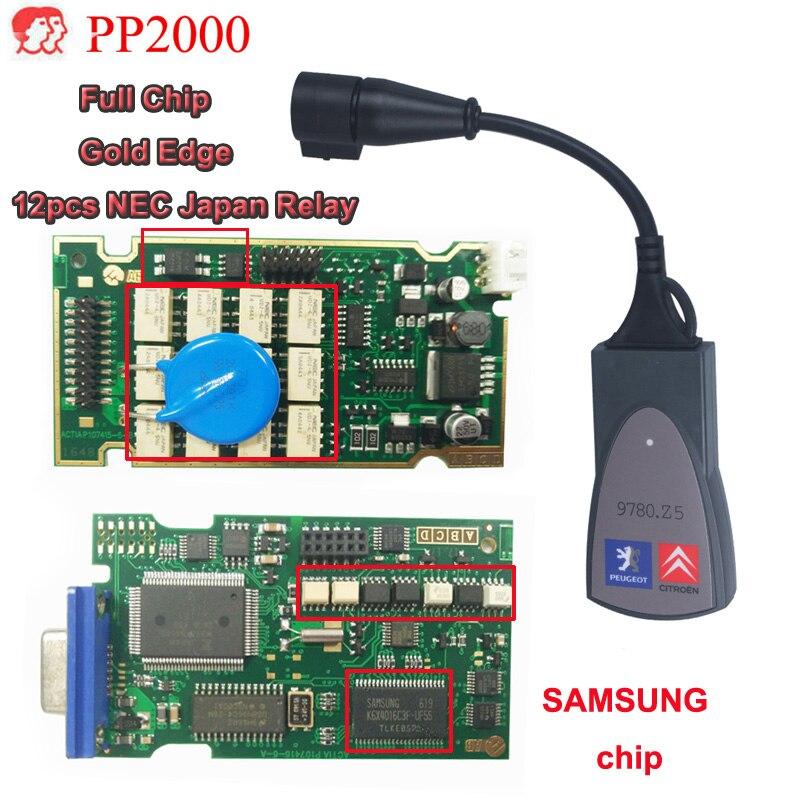 Hohe Qualität Goldene umriss Volle Chip Lexia3 PP2000 Auto Diagnose Werkzeug lexia-3 921815C Firmware Diagbox V7.83 Freies Verschiffen