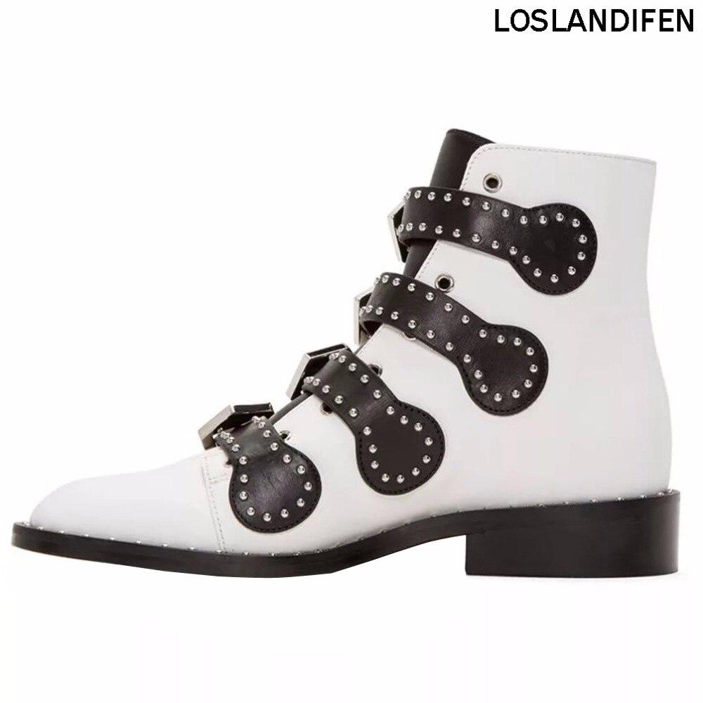 Здесь продается  New Fashion Design Handcrafted Western Style Boots Metal Dots Deco Simple Style Hot Sale Spring Autumn Dailywear Booties XD733  Обувь