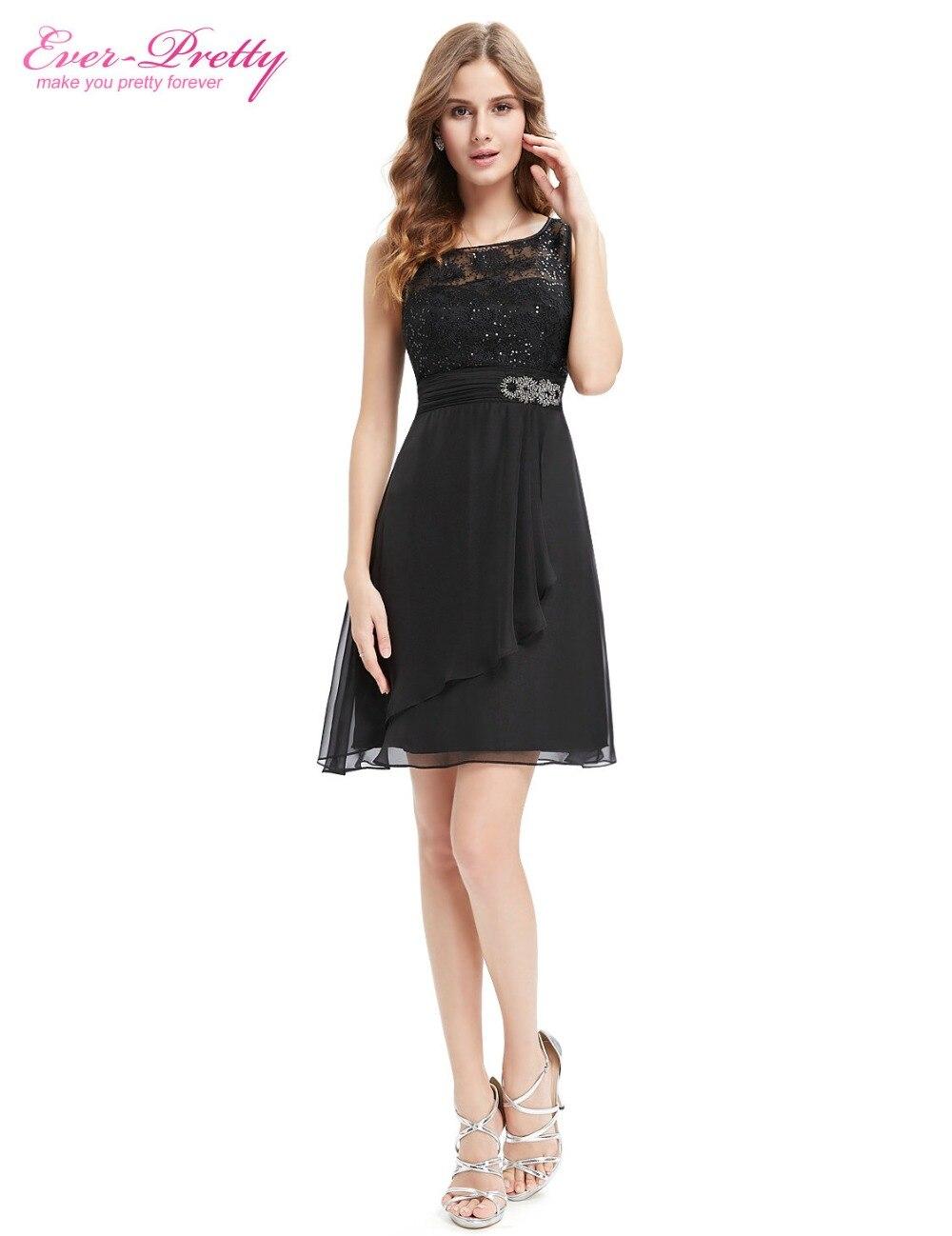 af244007fa170 Ever Pretty Cocktail Dresses AP05383BK Women Beautiful Cute Round Neck  Sleeveless Black Short Cocktail Dresses 2016 New Arrival-in Cocktail  Dresses ...