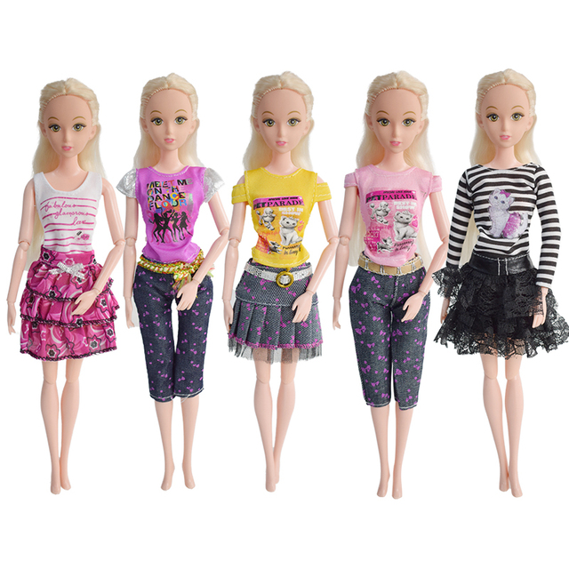 aliexpress com buy new 5 pcs lot barbie clothes fashion girl