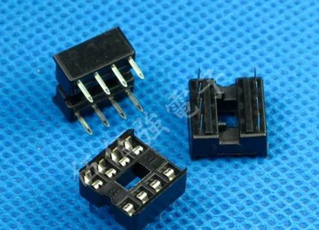 Free shiping 120PCS 8pin DIP IC sockets Adaptor Solder Type 8 pin