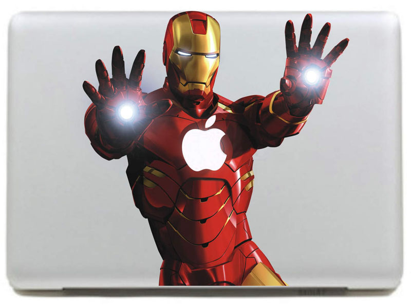 Aliexpress Com Buy Iron Man Of Shooting Notebook Decal