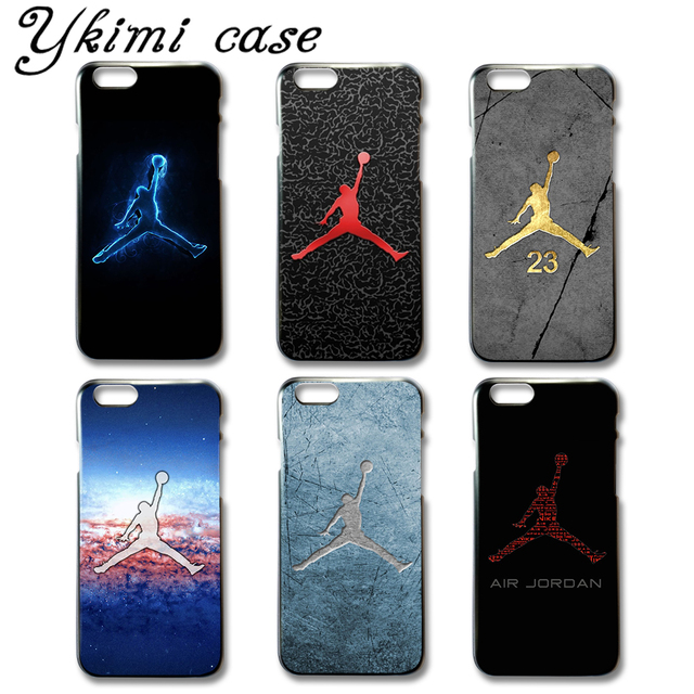 wholesale dealer 6e02c 579e1 US $1.99 |Fashion Jordan phone case for iphone 6 6s cover case black  plastic and transparent soft silicone TPU capa-in Fitted Cases from  Cellphones & ...