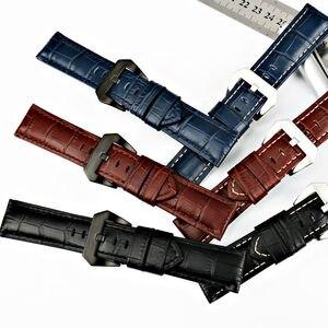 Image 2 - MAIKES 22mm 24mm 26mm חדש עיצוב להקת שעון שחור חום כחול עגל עור אמיתי שעון רצועת שעון אביזרי רצועת השעון