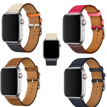High quality Genuine Leather Loop For Apple Watch Band single Tour 40mm 38mm series 4 3 2 1 For iwatch 4 strap 44mm 42mm