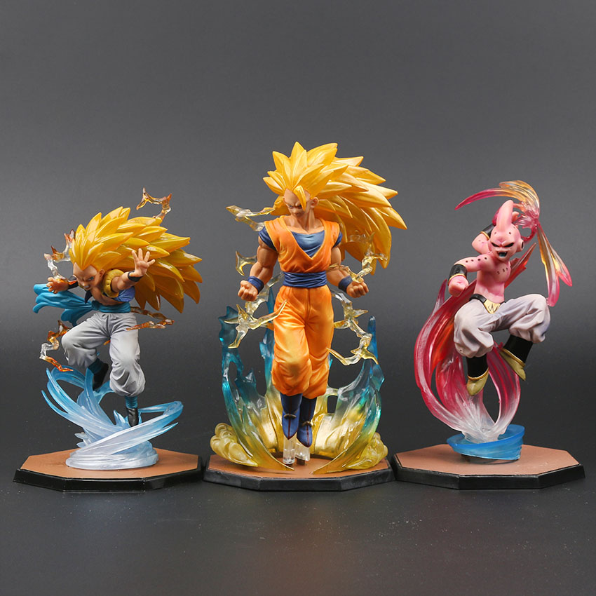 Majin Buu Goku Gotenks PVC Action Figures Tamashii Nations Figurine Super Saiyan Collection Model Dragon Ball Z  Toy