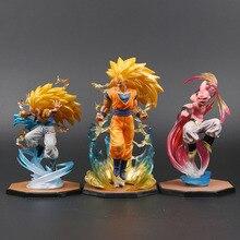 Majin buu goku gotenks figuras de ação pvc tamashii nações estatueta super saiyan coleção modelo dragon ball z brinquedo brinquedos de pelúcia