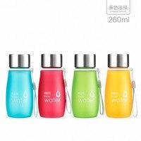 Hersteller großhandel 260 ml student wasserflasche kunststoff sport wasserkocher werbung flasche kreative frosted flasche Kostenloser versand