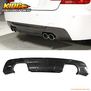 For 2007-2013 BMW E92 3 Series M-Tech M Sport 3D Style Rear Diffuser - Carbon Fiber