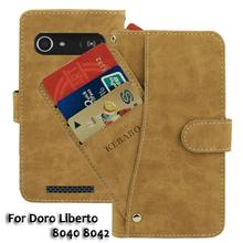 Vintage Leather Wallet Doro Liberto 8040 8042 5 Case Flip Luxury Card Slots Cover Magnet Stand Phone Protective Bags vintage leather wallet echo dune 5 case flip luxury card slots cover magnet stand phone protective bags