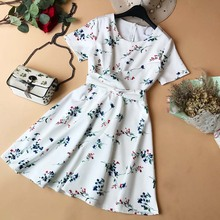 купить NiceMix Slim Fashion 2019 Summer Floral Print Cross Criss Bandage Mini Short Dress Party Women Robe Ete Casual Elegant A-Line Ve дешево