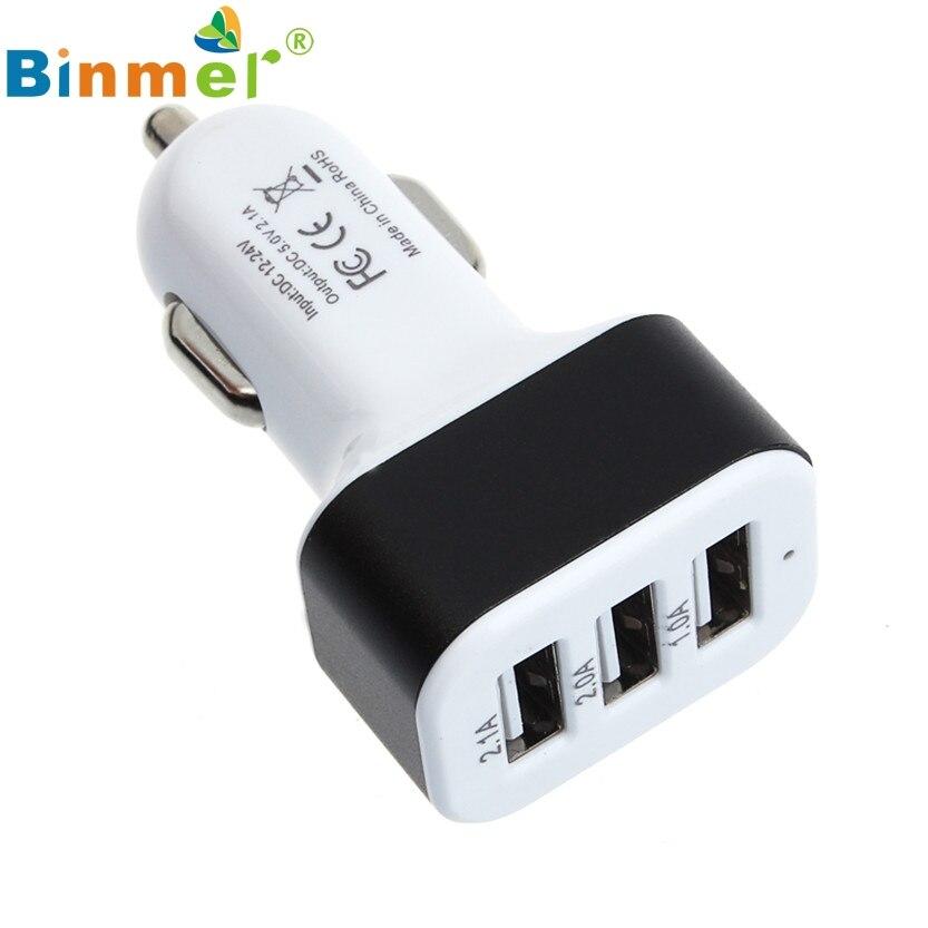 Car Universal 12V 24V To 5V 3Port USB Charger Adapter For Smart phone font b GPS