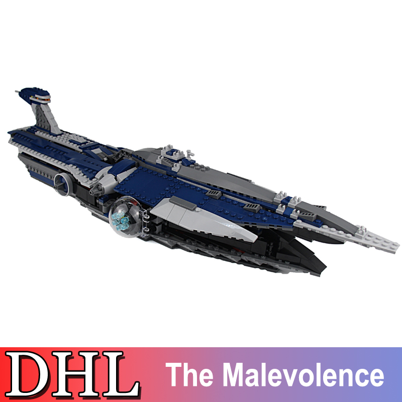 2018 New 05072 1192Pcs Lepin Star Wars Model Building Kits The Malevolence Blocks Bricks Toys For Children Compatible With 9515 new lepin 16009 1151pcs queen anne s revenge pirates of the caribbean building blocks set compatible legoed with 4195 children