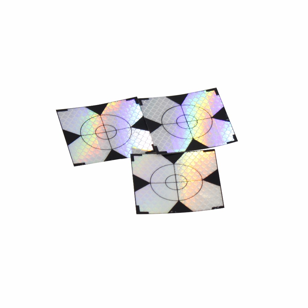 New 500Pcs Reflector Sheet  20 x 20mm Reflective Tape Target