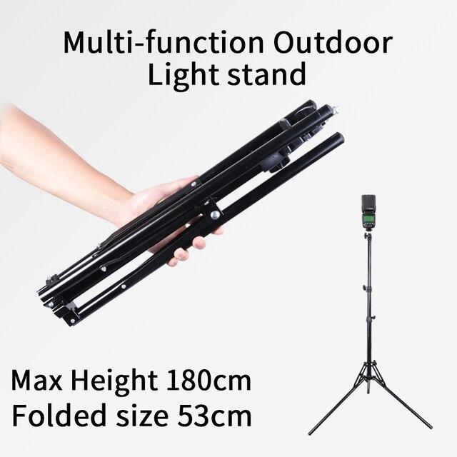 SUPON Tripod Max Extend Height 180cm Photo Studio Light Stand For Godox Softbox Camera Flash YN608 YN128 LED Video Light