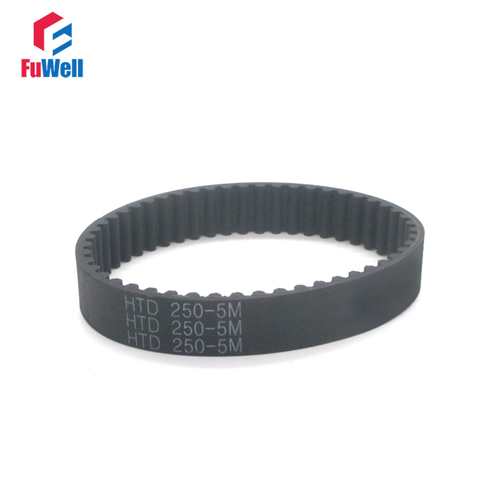 HTD 5M Timing Belt 240/245/250/255/260/265/270/275/280/285/290mm 15/20/25mm Width Toothed Belt Closed Loop Synchronous BeltHTD 5M Timing Belt 240/245/250/255/260/265/270/275/280/285/290mm 15/20/25mm Width Toothed Belt Closed Loop Synchronous Belt