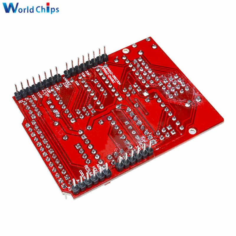 Diymore CNC Bouclier V3 Gravure Machine 3D Imprimante + 4 pièces A4988 Pilote Carte D'extension de Module pour Arduino UNO R3 avec Câble USB