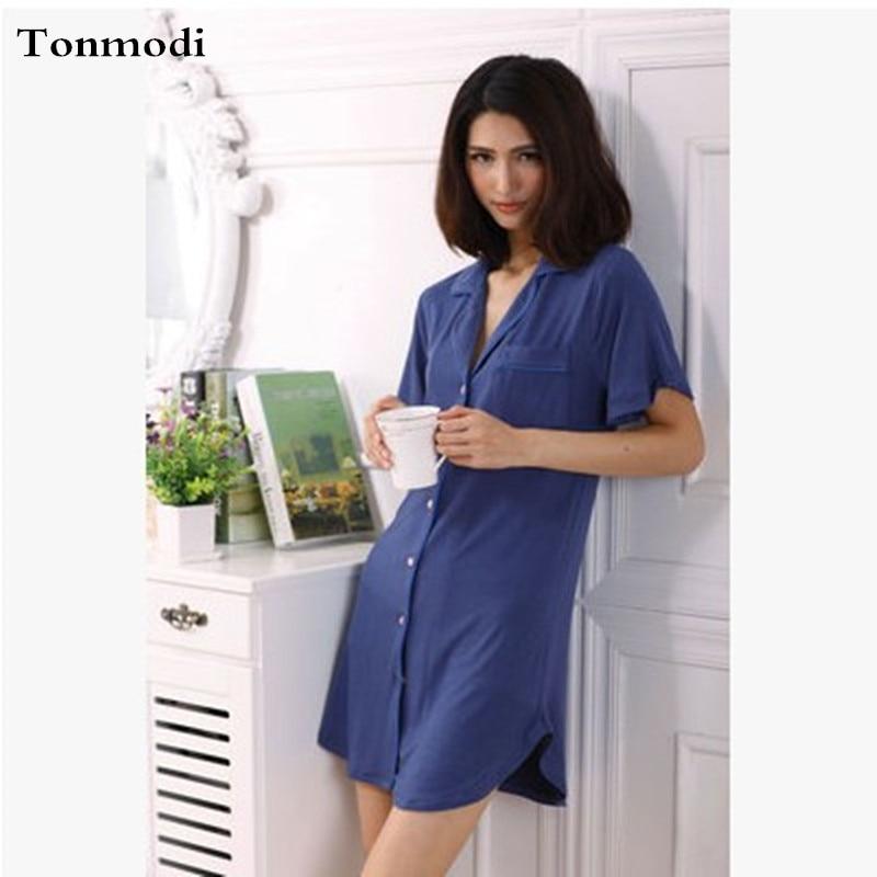 Nightgowns For Women Short Sleeve Short Nightdress Cotton Night Dress