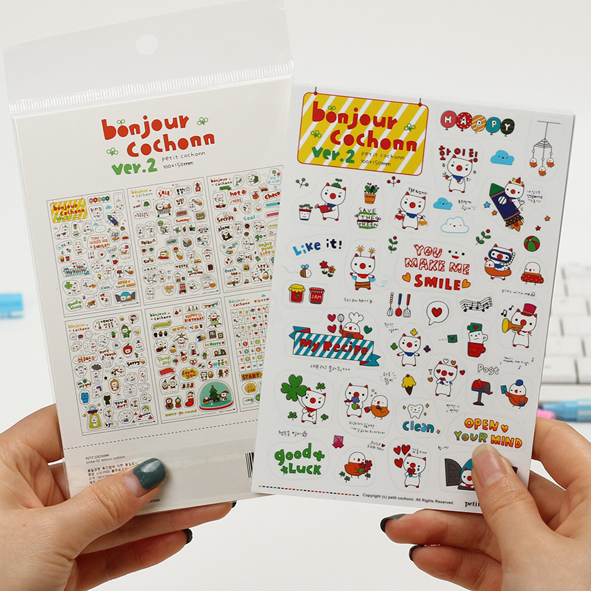 8eb4d77b0f32a0 6 Sheets set Lovely Pig Calendar Diary Book Sticker Scrapbook Decoration  Memo Pad Stickers Students Stationery Notes
