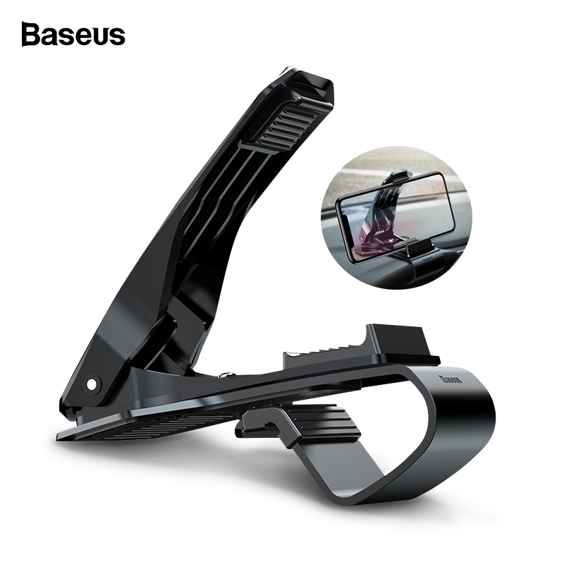 Baseus Dashboard Car Phone Holder For iPhone X 8 7 Samsung S9 S8 Mobile Phone Holder 360 Degree Adjustable Clip GPS Car HolderBaseus Dashboard Car Phone Holder For iPhone X 8 7 Samsung S9 S8 Mobile Phone Holder 360 Degree Adjustable Clip GPS Car Holder